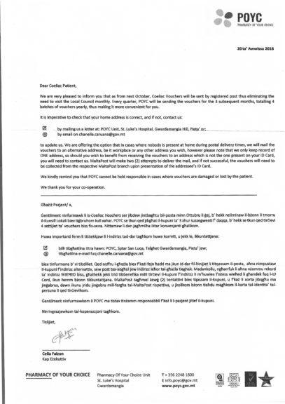 POYC Letter